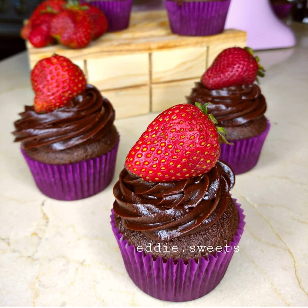 Cupcakes de chocolate intenso